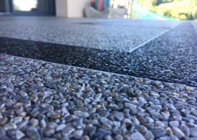 Gros plan sur granulat de marbre