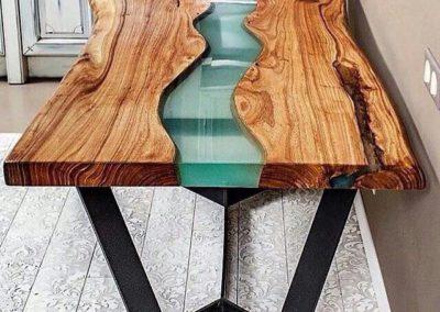 Meuble bois naturel résine